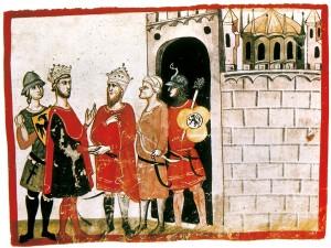 Federico-II-tratta-la-resa-di-Gerusalemme-300x225